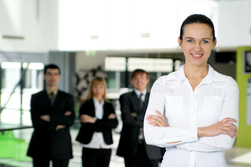 A group of four young business people royalty free stock image
