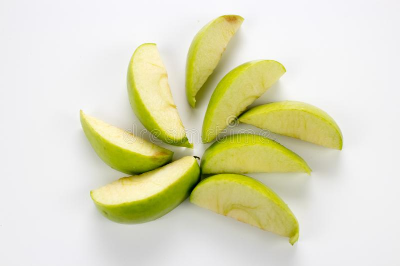 Group of fresh healthy apple slices. Group of Fresh, healthy apple slices. background, multiple uses is possible stock photo