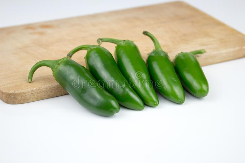 Group of fresh, healthy jalapeno peppers. From my garden. background, multiple uses is possible stock images