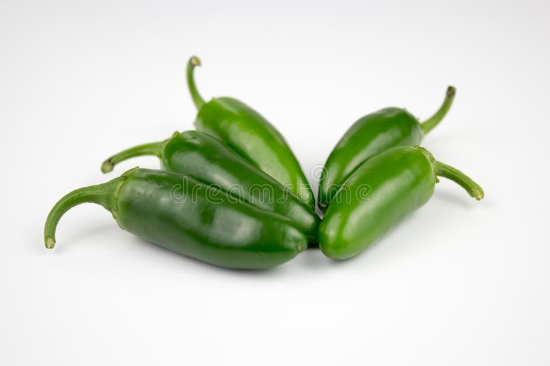 Group of fresh, healthy jalapeno peppers. From my garden. background, multiple uses is possible royalty free stock photography