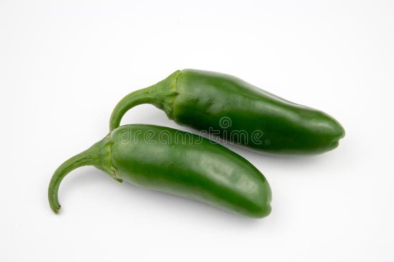 Group of fresh, healthy jalapeno peppers. From my garden. isolated background, multiple uses is possible royalty free stock photos