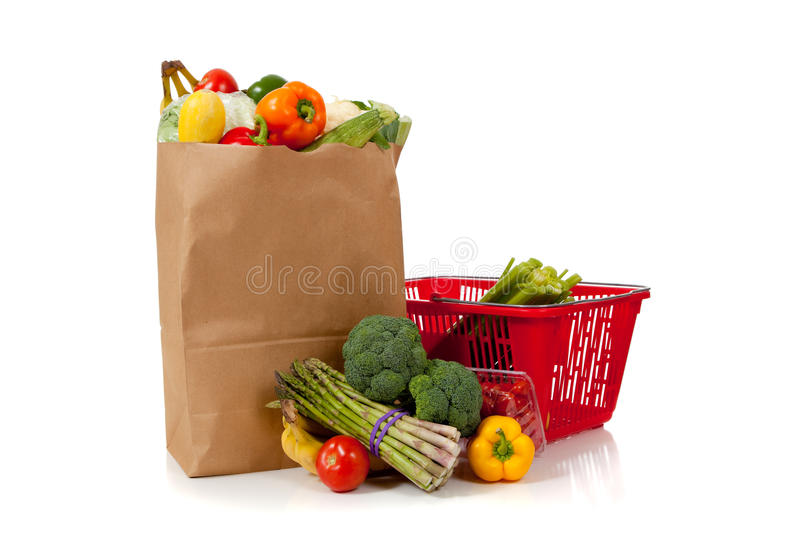 Download Group Of Fresh Produce In A Brown Grocery Sack Stock Image - Image: 11167243