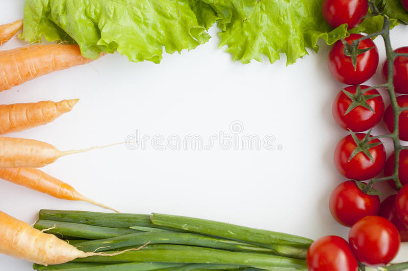 Group of fresh vegetables. On a white background stock photography