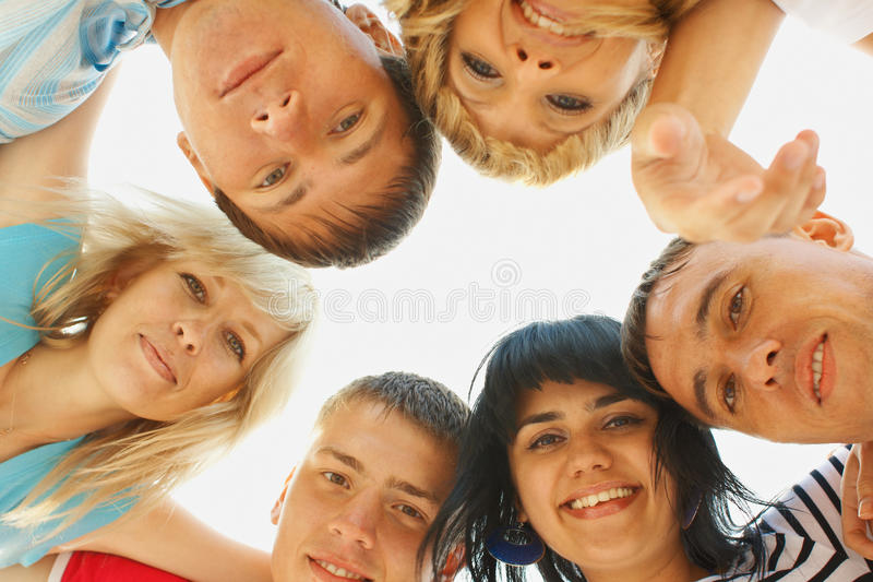 Download Group friemds faces stock image. Image of circle, group - 20608225