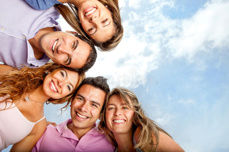 Download Group of friends stock image. Image of smiling, blue - 23471391