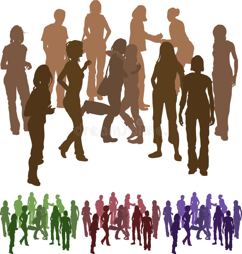 Download Group of friends stock vector. Image of party, image, people - 2418093