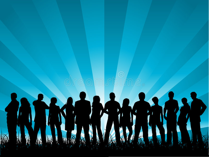 Download Group of friends stock vector. Image of youngsters, people - 2772029