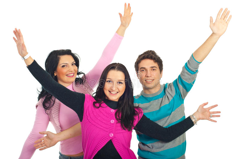 Group Of Friends With Arms Open Royalty Free Stock Images