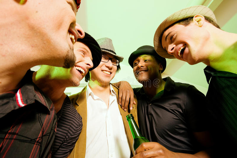 Download Group Of Friends Celebrating A Party Stock Photo - Image: 12409794