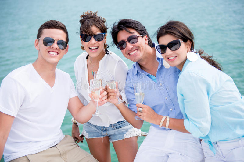 Download Group Of Friends Enjoying The Summer Stock Image - Image: 30706151