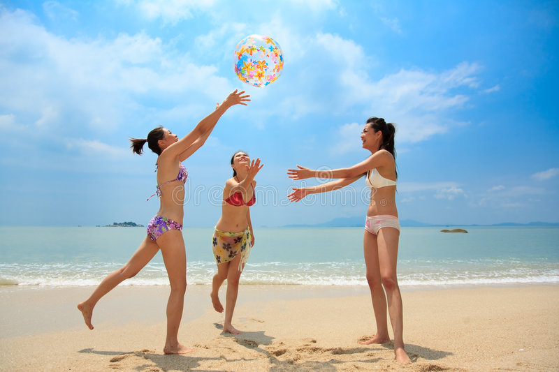 Download Group Of Friends Having Fun At The Beach Stock Image - Image of freshness, happiness: 6633821