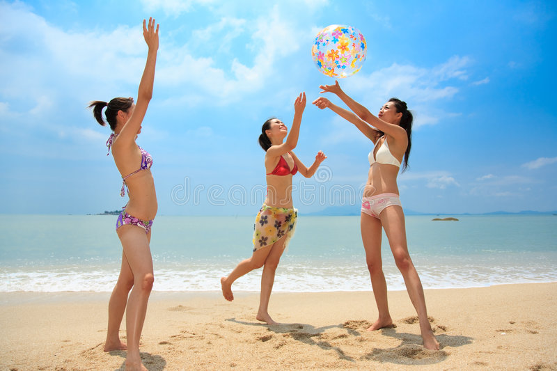 Download Group Of Friends Having Fun At The Beach Stock Photo - Image: 6633872