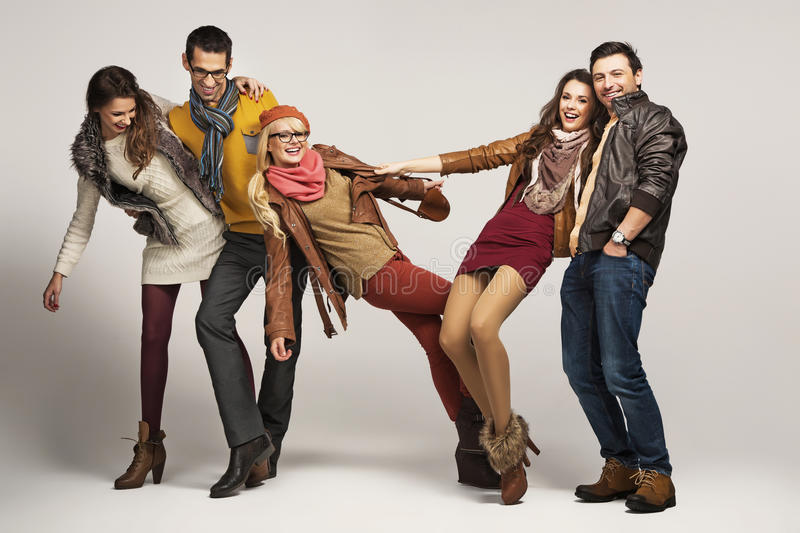 Group of friends having fun together royalty free stock photography