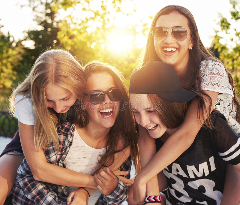 Group of friends. Laughing and having fun royalty free stock photos