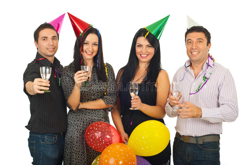 Download Group Of Friends At New Year's Eve Party Royalty Free Stock Photos - Image: 22003078