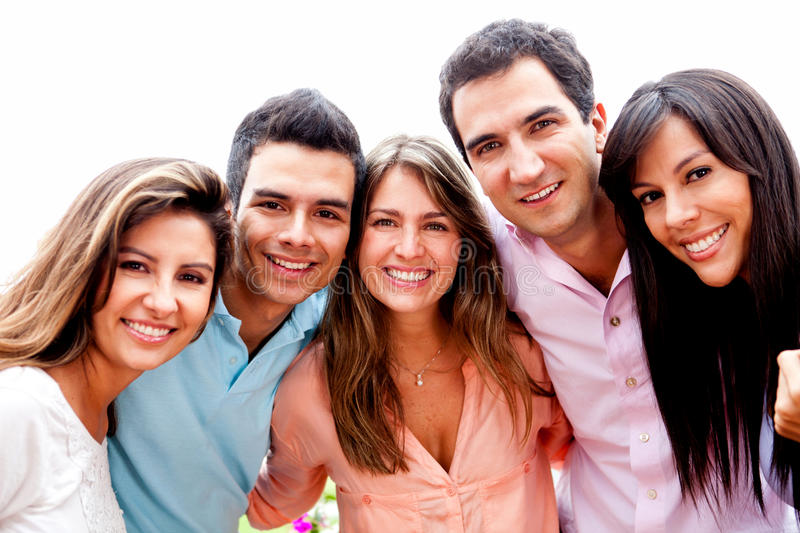 Download Group of friends outdoor stock image. Image of outdoors - 23292237
