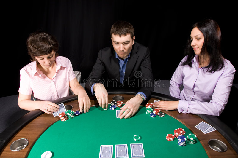 Download Group Of Friends Playing Poker Stock Photo - Image: 8817702