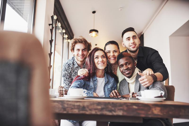 Diverse Group People Sitting Couch Concept royalty free stock images
