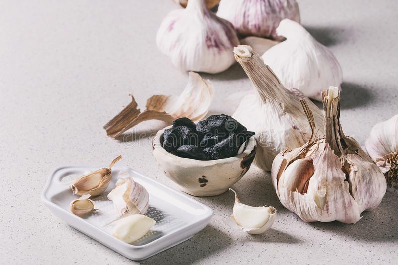 Group of garlic stock photography