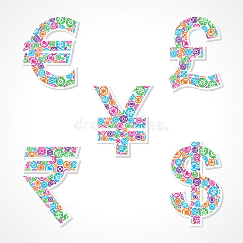 Download Group Of Gear Make Currency Symbols Stock Vector - Image: 34704361