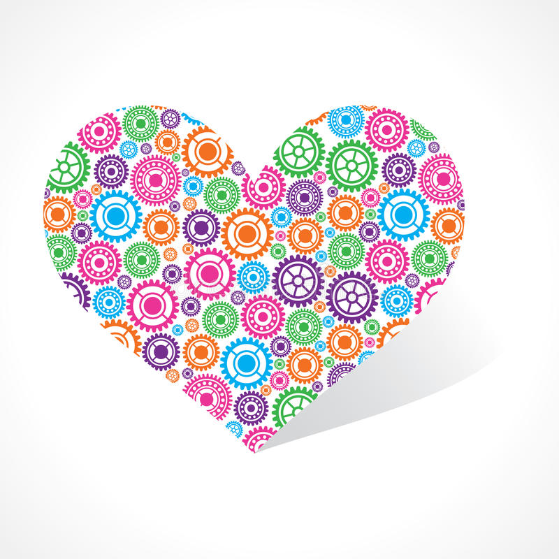 Download Group of gear make a heart stock vector. Illustration of human - 34706027