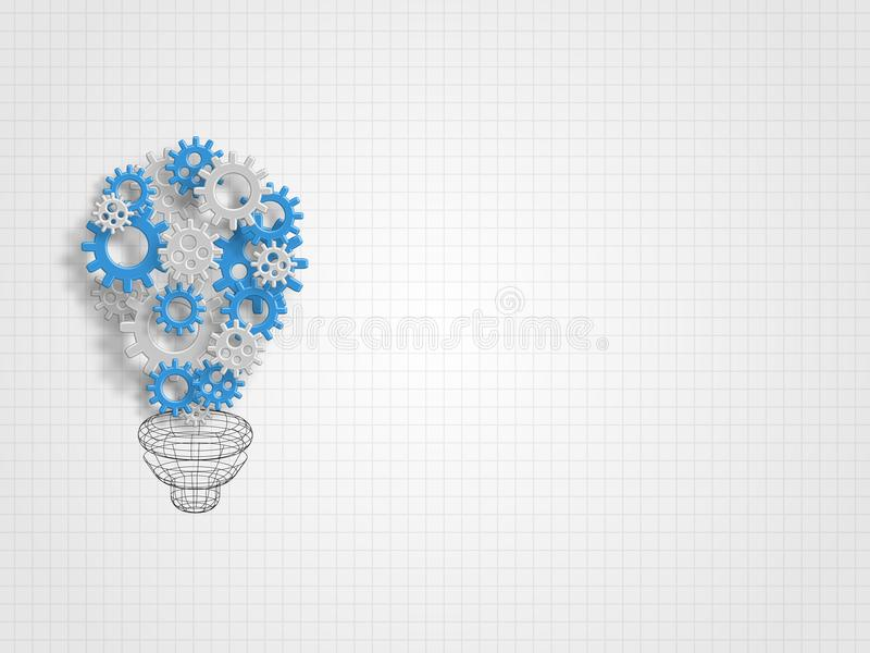 Group of gears formed as the lightbulb shape represent new idea and innovation concept. Technology Background. Concept of engineering and innovation. Vector vector illustration