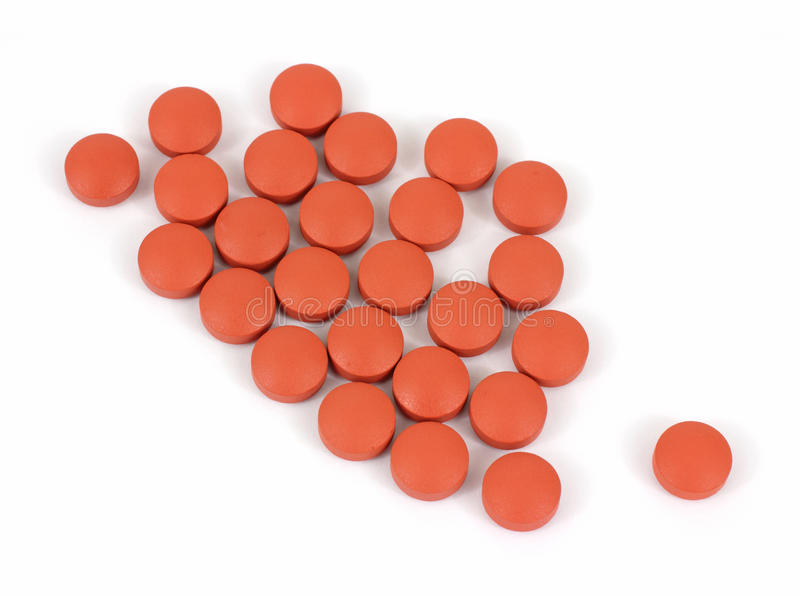 Group Of Generic Ibuprofen Pain Reliever Tablets Royalty Free Stock Photos