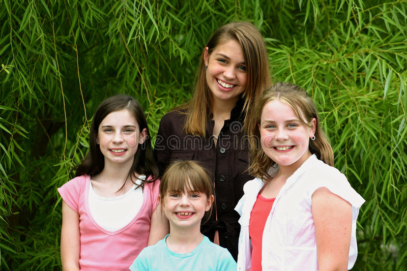Group of Girls stock photos