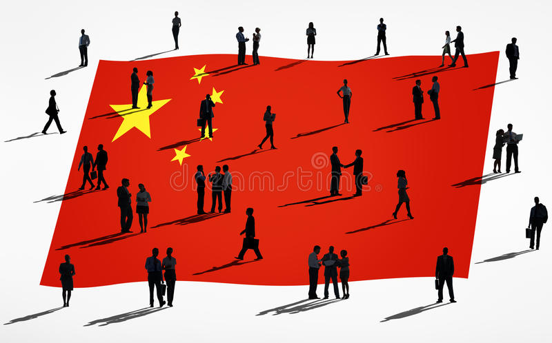 Group of Global Business People : China.  royalty free illustration