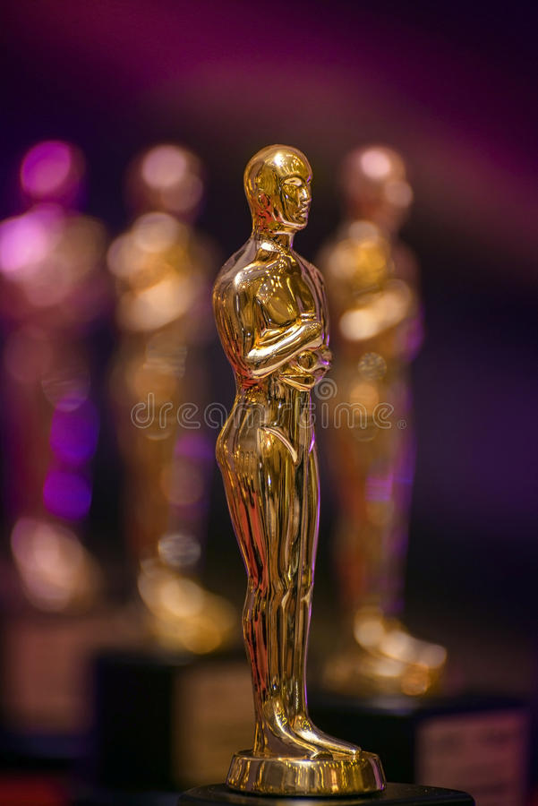 Group of Golden Awards stock photography
