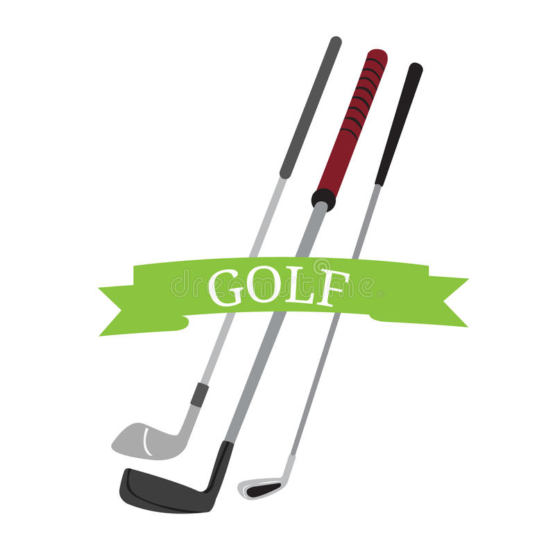 Group of golf clubs royalty free illustration