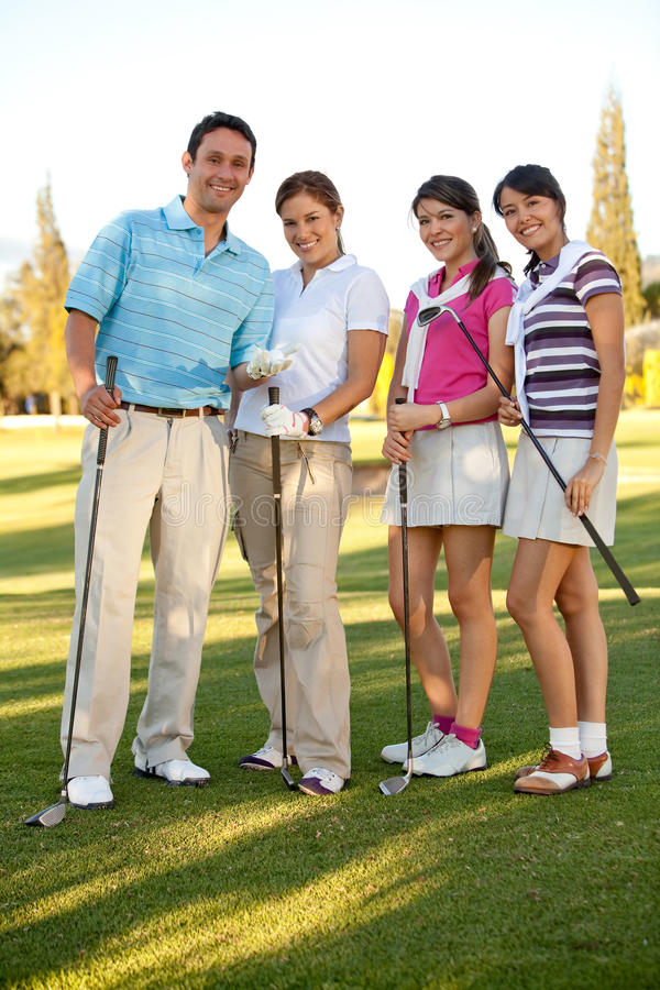 Group of golf players