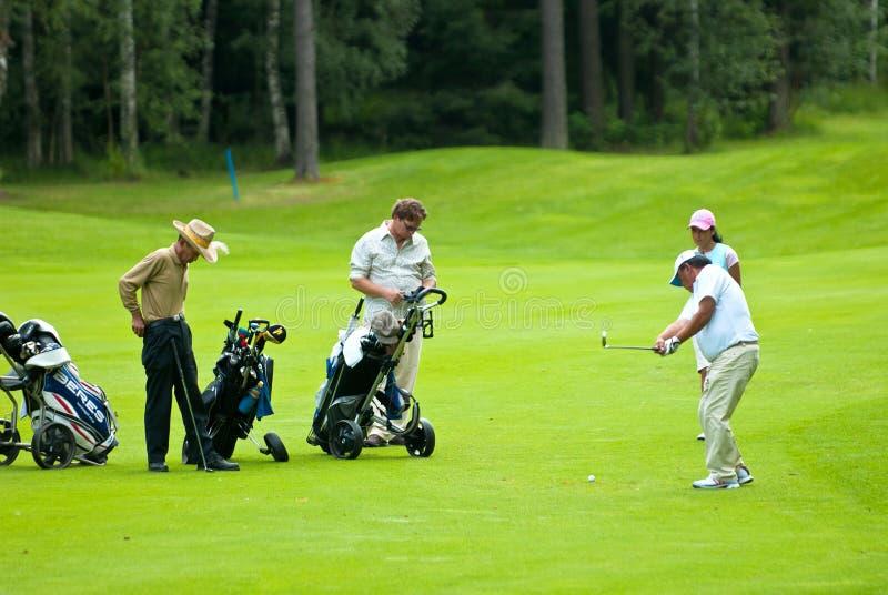 Group Golfers On Golf Feeld Editorial Photo