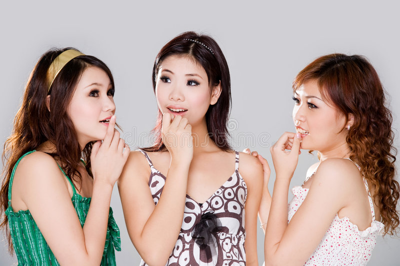 Download Group of gossip girls stock image. Image of curious, girl - 4165247