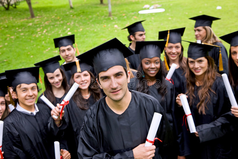 Download Group of graduates stock photo. Image of certificate, academic - 8862426