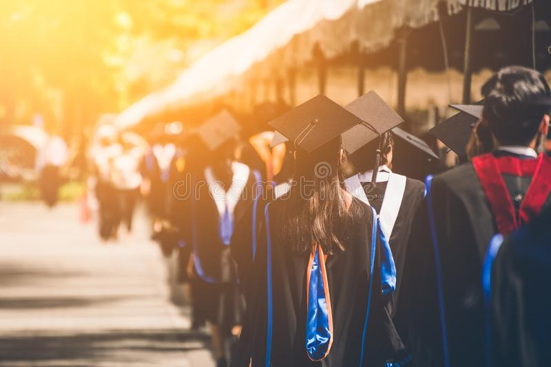 Group of  Graduates during commencement. Concept education congratulation in University. royalty free stock photos
