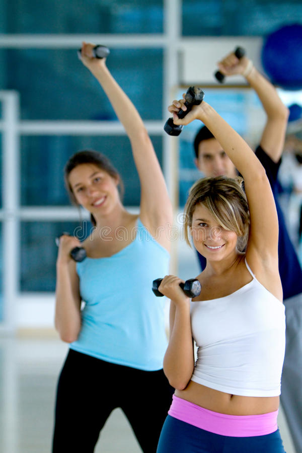 Download Group at the gym stock photo. Image of persons, healthy - 12916636