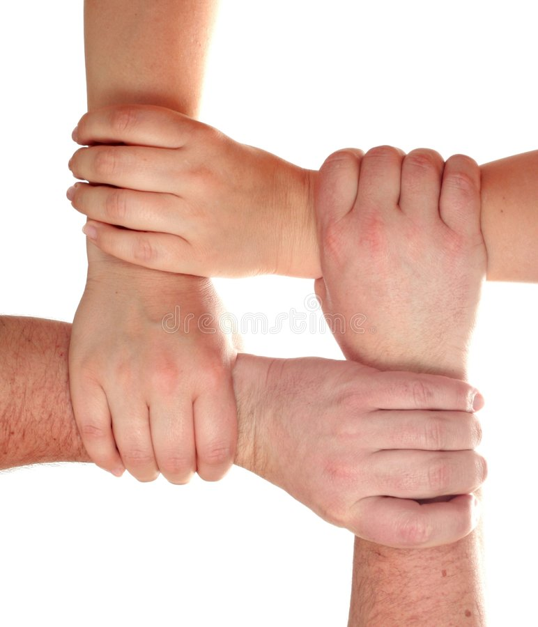 Group of the hands