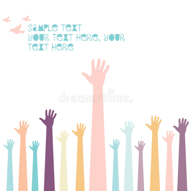 Group of hands stock illustration