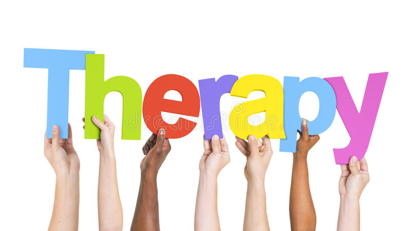 Group of Hands Holding Therapy royalty free stock photography