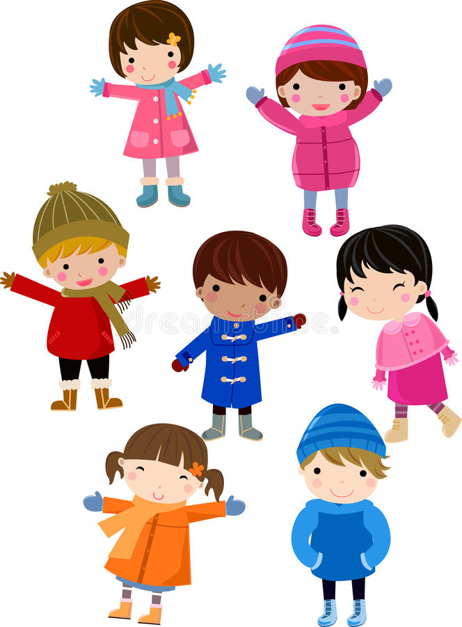 Group of happy children royalty free illustration
