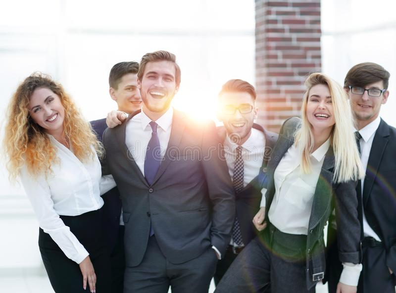 Group of happy colleagues royalty free stock photos