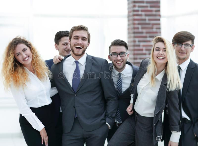 Group of happy colleagues royalty free stock images