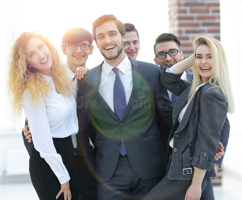 Group of happy colleagues stock photo