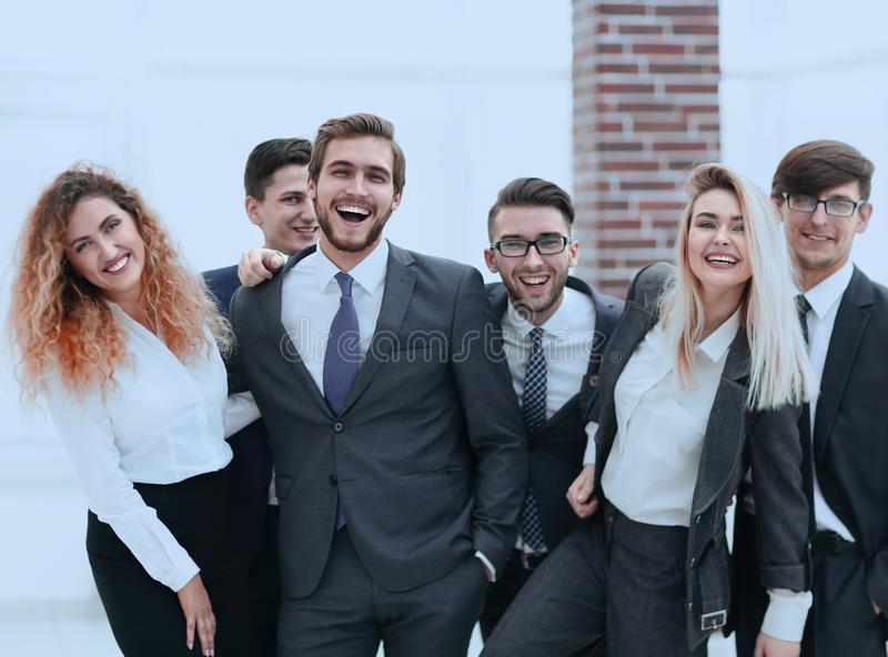 Group of happy colleagues royalty free stock image