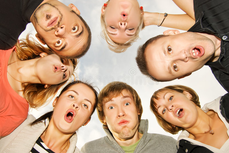 Download Group of happy friends stock image. Image of facial, group - 6525535