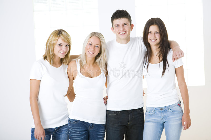 A group of happy mates royalty free stock photo