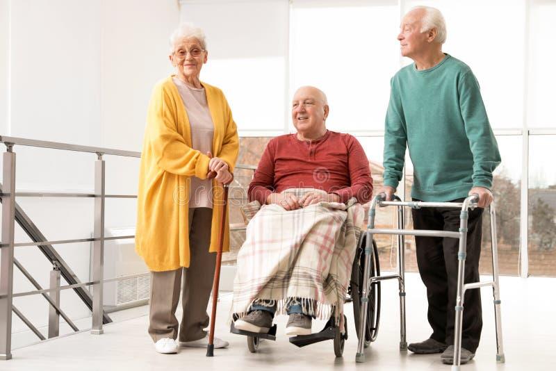 Group of happy senior people stock photo