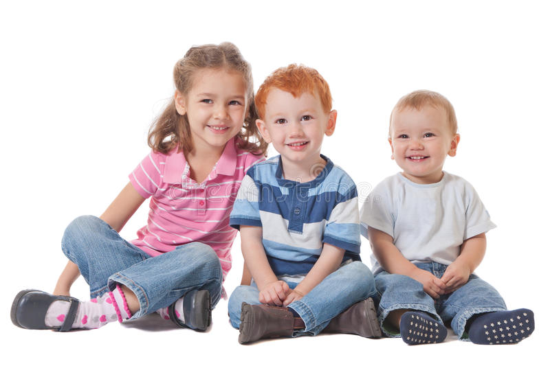 Group of happy smiling kids stock photos