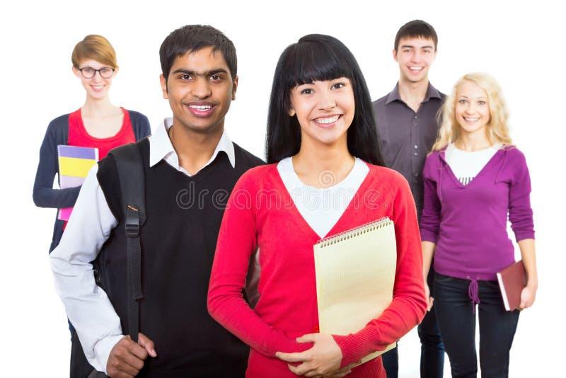 group happy students στοκ εικόνα με δικαίωμα ελεύθερης χρήσης